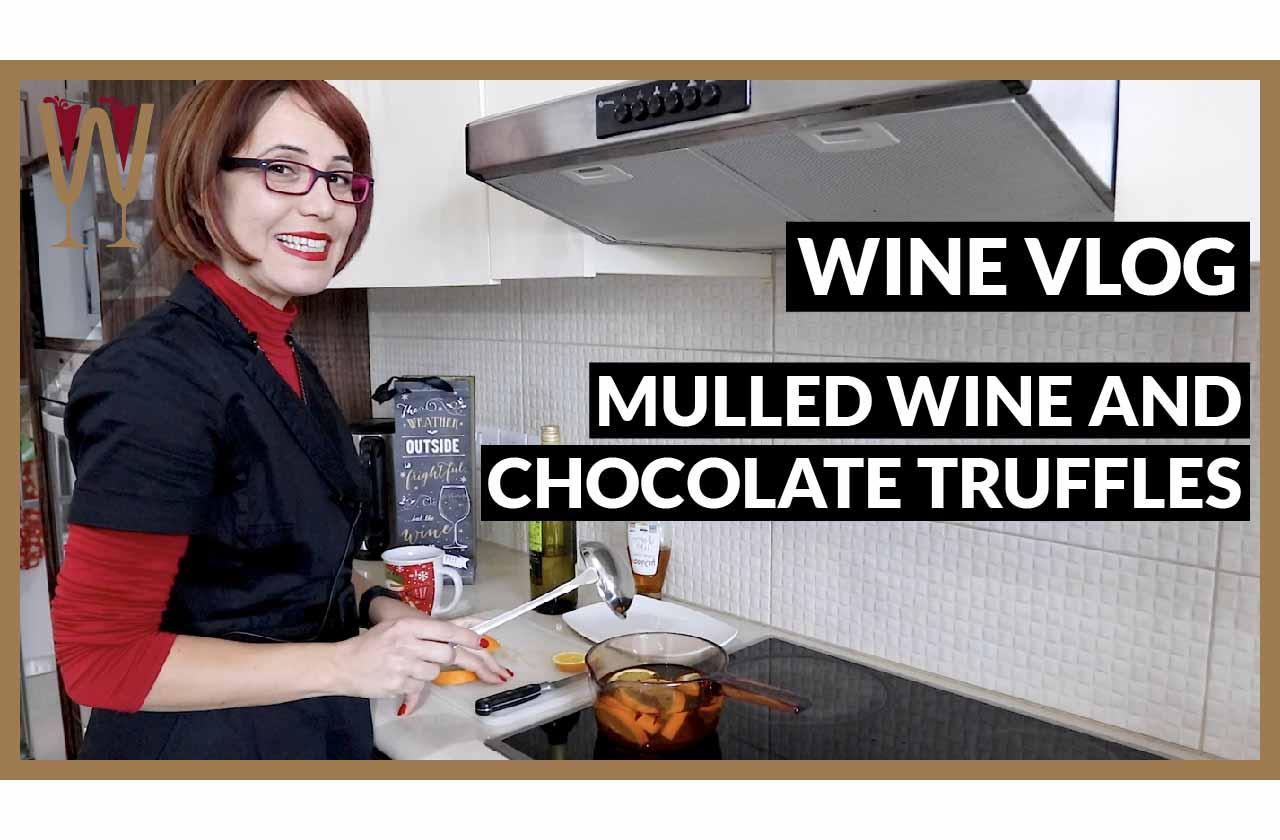 White Mulled Wine and Chocolate Truffles