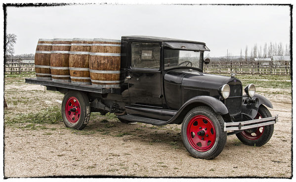 Old fashioned wine delivery van!