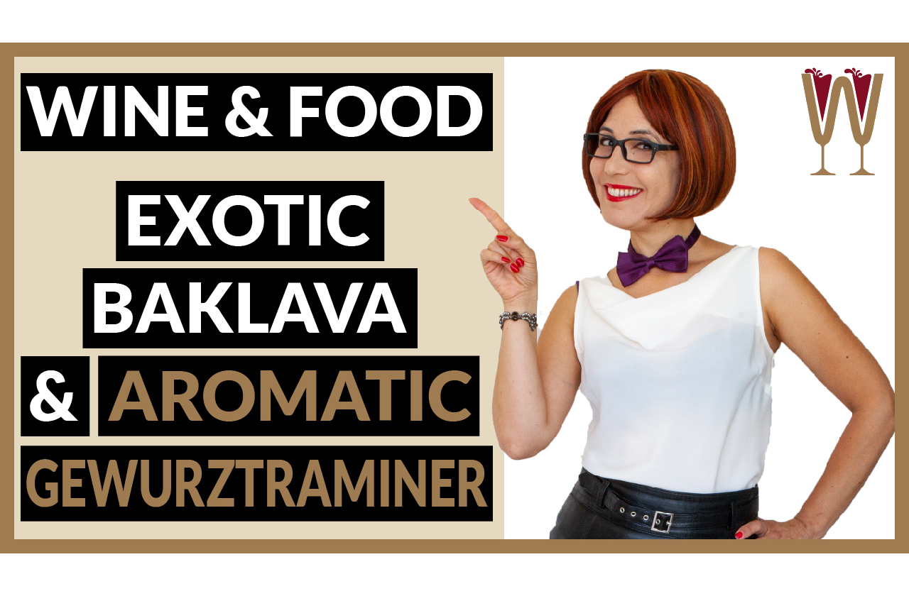 Banner image showing Annabelle McVine discussing a Amazing Gewürztraminer Wine and Food Pairing