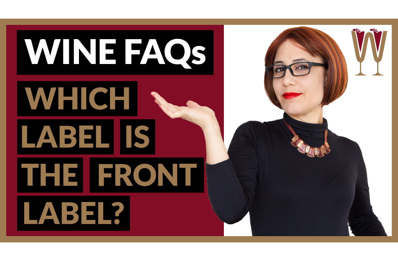 "Banner image showing Annabelle asking questions about wine label rules: ""which wine label is the front label""?"