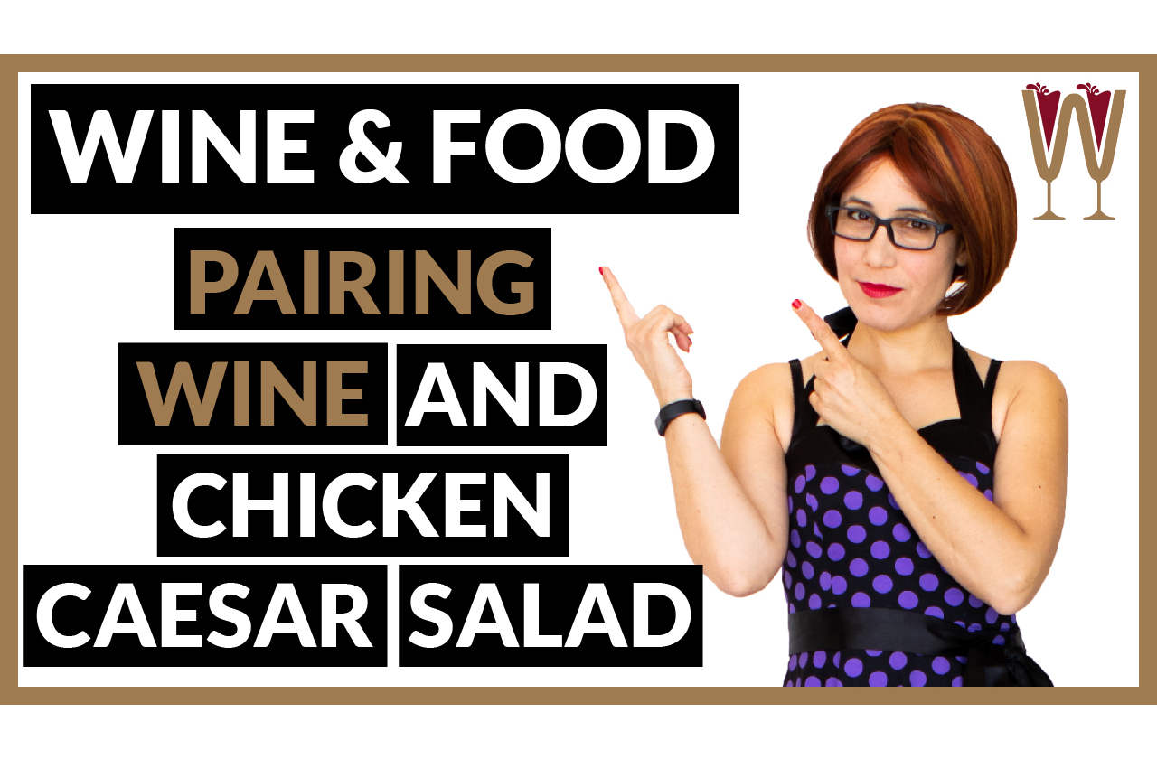 Banner image showing WineScribble discussing Pairing Wine With Caesar Salad